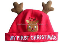 Cute Deer Corner Babies Santa Claus Hat Infant Christmas Hat