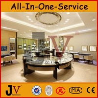 Round glass jewellery furniture free design jewellery shop showcase