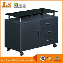 2015 Furniture Glass Desktop Style Mobile Cabinet For Office File
