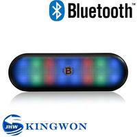 Kingwon 2015 new flashed light V3188 portable wireless bluetooth mini vibration audio speaker dwarf 360 omni direct
