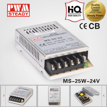 Hot sell 1a 24v 25w single output LED driver MS-25 SMPS