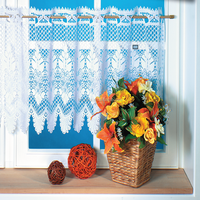 100% Polyester Lace Kitchen Curtain Kitchen Curtain White