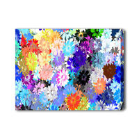 Abstract floral painting beautiful flower scenery oil painting