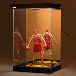 Perspex/plexiglass led acrylic lighted display case for hot toys garage kit display case wholesale