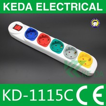 New Type Hot Sale and Good Quality 13 Amp 5 Gang Switched Socket