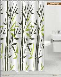 Fresh Bamboo Nature design polyester shower curtain