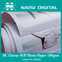 Fast dry waterproof 180g glossy inkjet a4 RC photo paper for pigment ink