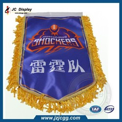 Single Sided Custom Printing Sports Team Pennant Soccer Flags For Sale
