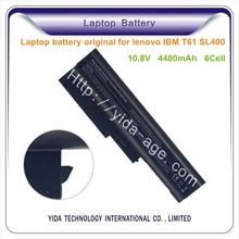 6 cells 4400mAh Laptop Lithium battery for IBM Lenovo R60 T500 T61 SL400
