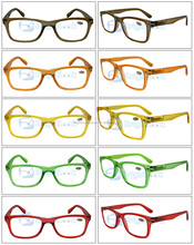 Hot sale transparent color frame with spring hinge reading glasses