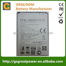 gb/t18287-2013 mobile phone battery 3.8v 2440mAh BL-59UH for LG Optimus G2 Mini