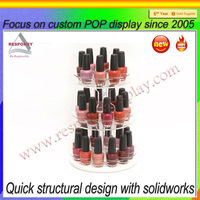Table top Acrylic round nail polish Display Stand
