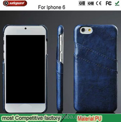 For apple iPhone6 oil wax grain high quality PU leather cover for iPhone 6 case, for iPhone 6 leather insert card back cover