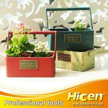 Portable Fir Wooden Garden Pot, Classical Pot