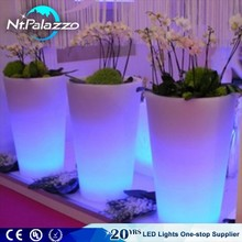16 colors change round planter pots MACETAS Y LAMPARAS CON LUZ