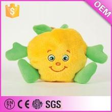 Custom cute cartoon image wholesale fruit plush toys peach, plush fruit peach