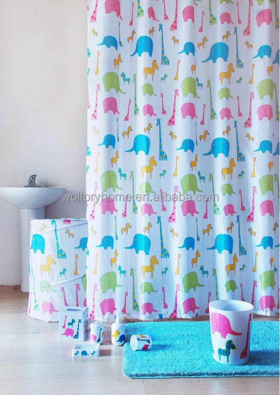 bote de couleur emball rideau de douche et tapis de bain set denfant - Rideau De Douche Color