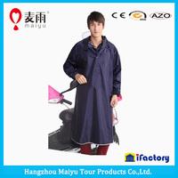 Maiyu long style pvc hood custom printed electric motorcycle rain ponchos with sleeves