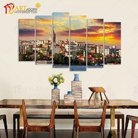 Home Decor Costom Modern Canvas Oil Wall Picture Landscape House Painting