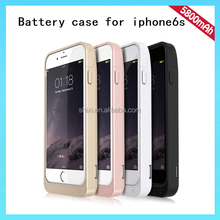 OEM Portable 5800mAh For iPhone 6S Battery Charging Case Approved With Changeable Frame