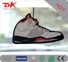 Custom Shoe shaped air freshener/shoes paper air fresheners for car