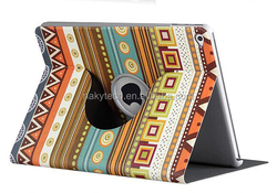 Cartoon Pattern Style Stand PU Leather + PC Case for Samsung T320/T321 360 degree rotating