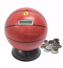 Hand made/ hand sculpture monster basket ball board coin bank