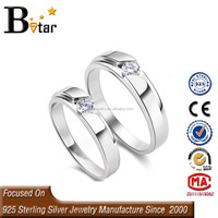 wholesale silver jewelry engagement twin ring for couple/couple rings for valentines day