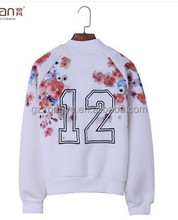 2015 hotsell women's embroidery and print coat lady wild sports short jacket OEM supply manufactuer in guangzhou