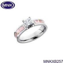 Custom 316l Stainless Steel Ring Wholesale Fashion Jewelry Diamond Couple Rings