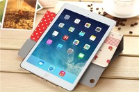Portfolio Leather Case Stand Cover for iPad mini 3 With Auto Wake/Sleep Function and Paper Pocket Slot Holders