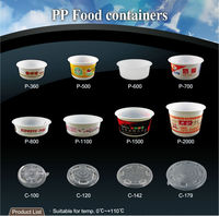 T PP5 T PP 27 36 50 66 oz packaging printing disposable plastic salad food container