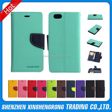 Mercury dual color wallet PU leather cell phone case for iphone 6, for iphone 6 leather case