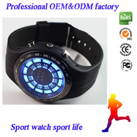 Blue led binary watch dive watch 30m waterproof sports digital watch wholesale alibaba