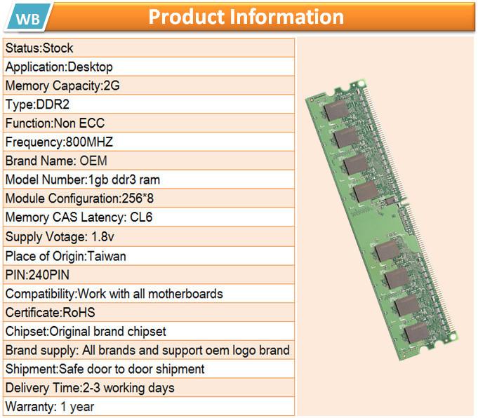 Taiwan Factory Memoria Ram Ddr2 2gb 800mhz 667mhz Buy
