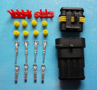 4P DJ7021 1.5 serie electronic connector HID Waterproof Electrical connector plug kits, male&female