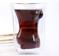 Factory new products female body shaped beer glass,naked glass,double wall woman shape beer glass