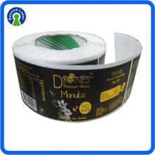 Manufacturer Custom Self-Adhesive Food Label Sticker Colorful Printed Label Honey Label. Sliver Or Gold Foil Stamping