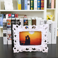 2015 promotional sale white crystal love heart photo frame baby 4x6 inch BY001