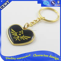 Custom heart shaped metal keychain/3d metal keychain/metal eagle keychain for sale