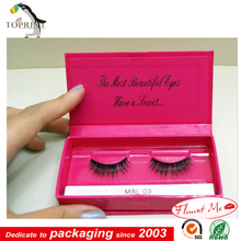 Hot sale custom made mink lashes packaging box