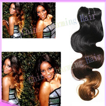 colored two tone virgin brazilian ombre body wave hair weave bundle weft