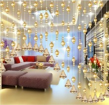 2014 new style home Decor crystal Beaded Curtain for room divider