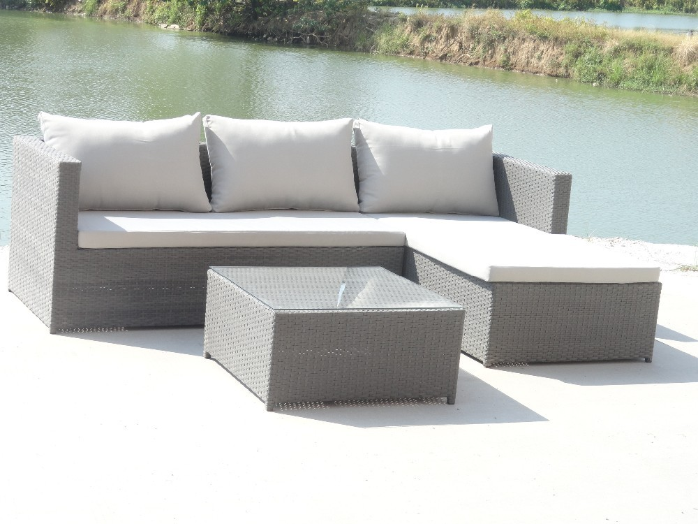 Ch w187 outdoor rattan sectional sofa rattan outdoor sofa for Sofa exterior a medida