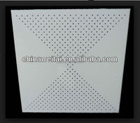 ISO9001,22 years manufacturer fireproof acoustic lay in aluminum ceiling tiles