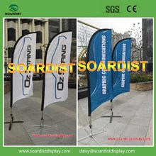 Manufacturer of Single Side or Double Side Beach Flags 110g/70D 100g Polyester