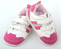 fashion kids baby shoes PU leather & cotton shoes sports sneaker with velcro