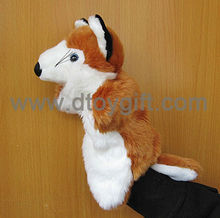 Plush toys fox hand puppets