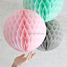 multicolor tissue paper Honeycomb decorative Balls for ceiling