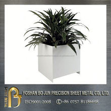 custom white powder coating rectangle planter fabrication from china supplier